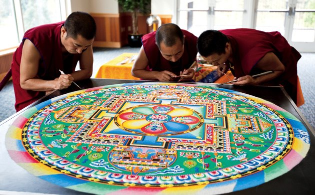 Incredible Mandalas by Tibetan Monks