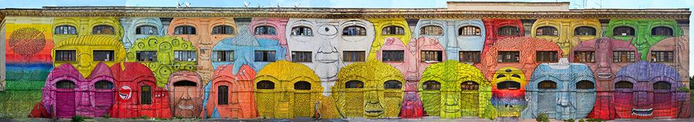 Blu - Giant Mural
