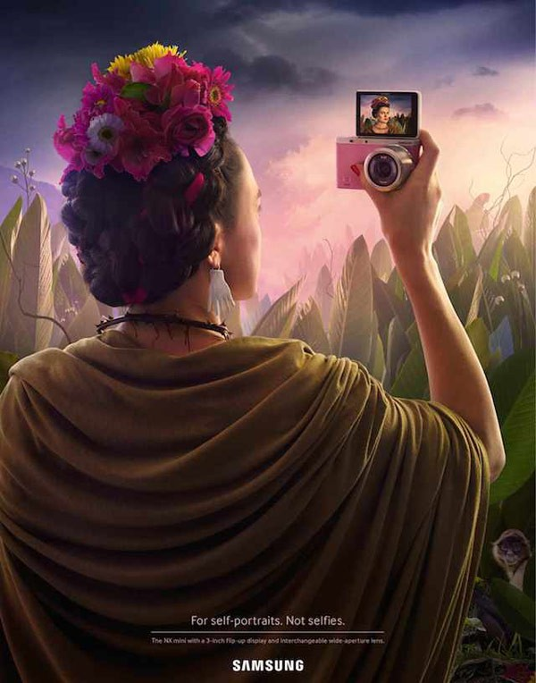 2-Frida-Kahlo-creative-SAMSUNG-campaign-by-Leo-Burnett-Switzerland-600x764