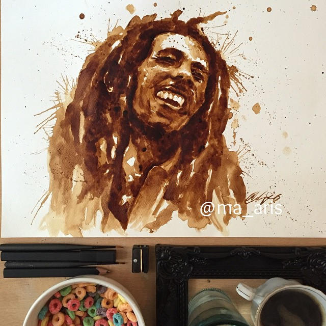 Amazing Coffee Painting by Maria A. Aristidou | Stampede