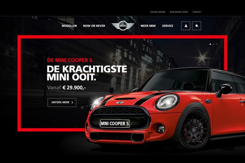 MINI web design concept