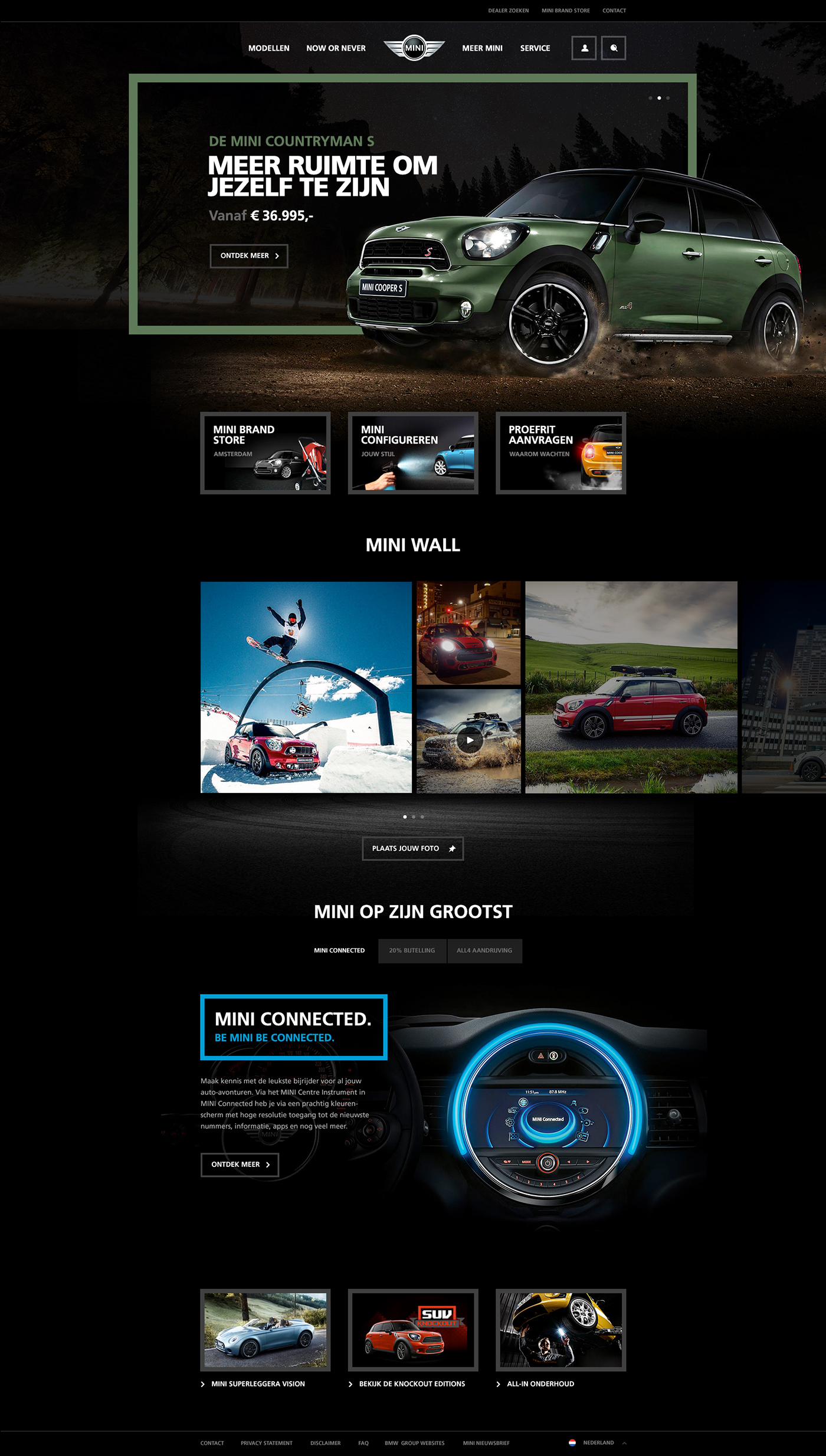 MINI web concept design