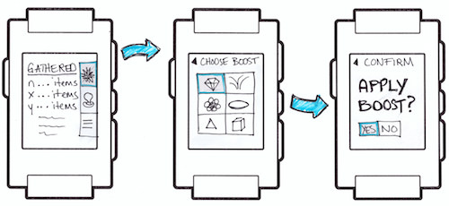 A low-fidelity game workflow for the Pebble smartwatch