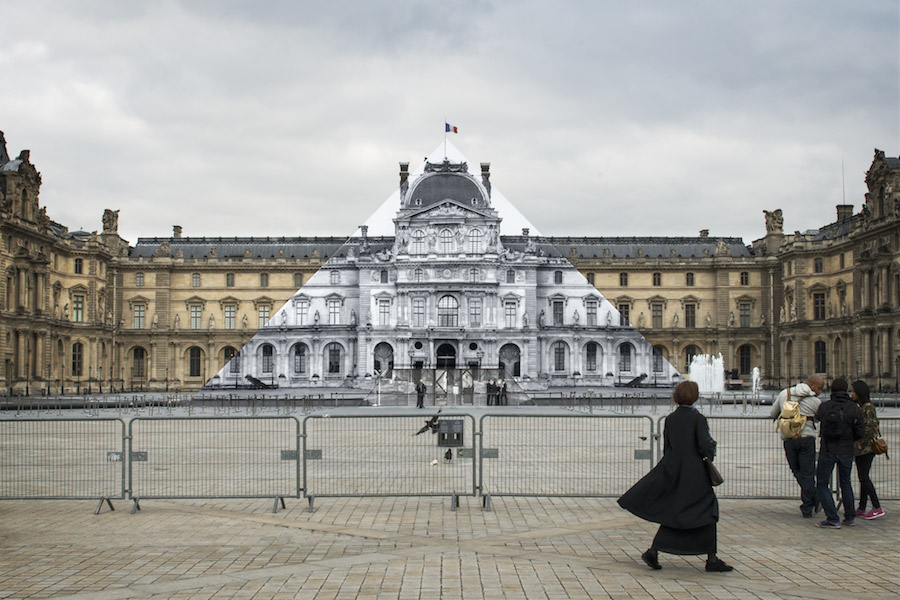 Artist JR Makes the Louvre's Glass Pyramid Disappear