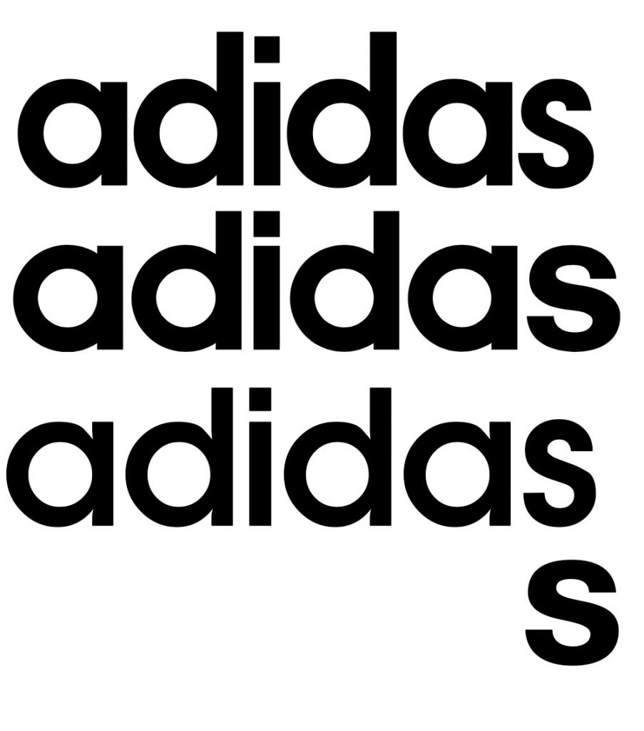 Adidas logo is among those whose typeface is made specially for the brand