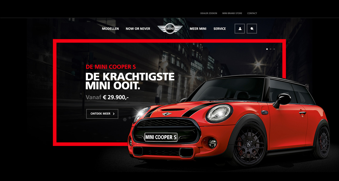 MINI web design concept